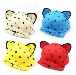 723c0fc34d219 cap ear pink cat 2019 - Baby Summer Hat Lovely Cat Ear Sun Hat Kids Baseball