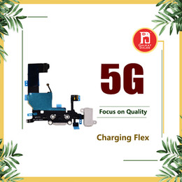 Wholesale replacement audio - Charging Port Dock USB Connector Flex Cable For iPhone 5 Charger with Headphone Jack Mic Antenna Cable Audio Jack mic Ribbon Replacement