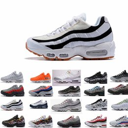 48ab99aa6aaf7 Europe 2018 men casual Runner Shoe 95 black gold red white designer 95s  chaussures sport Mens Maxes Zapatos Size 5.5-12 95 max on sale