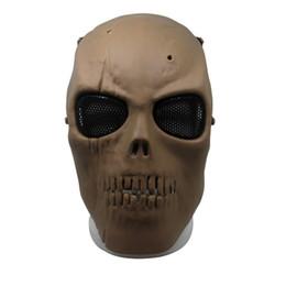 máscaras de airsoft de malla Rebajas Nueva malla del ejército máscara de cara completa Skull Skeleton Airsoft paintball BB juego proteger la máscara de seguridad de alta calidad 20js aa