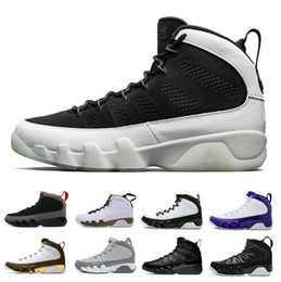 quite nice 9f470 a188f pe chaussures Promotion Chaussures de basket pas cher Bred LA 9 Hommes 9s  Blanc Noir Mop