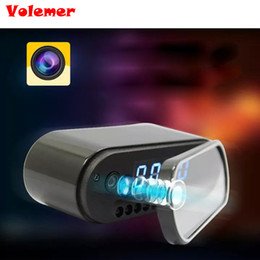 ip tables Promo Codes - Volemer New Table Clock Camera Alarm Setting HD 1080P Mini Camera DV DVR IR Night Vision Wifi IP Clock Camcorder Wifi Cam