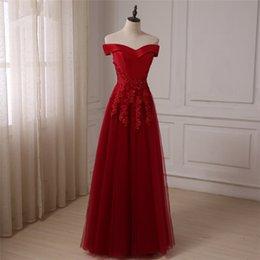 2015 setwell burgunday vestidos de dama de honra frisada applique fora do ombro uma linha de cetim / tule vestidos de dama de honra vestidos de festa de casamento de