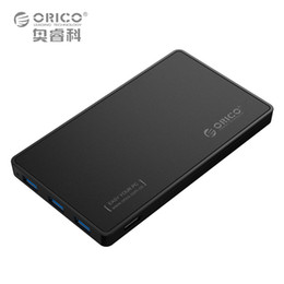 Wholesale Hard Driver Enclosure - 2.5 HDD Enclosure ORICO USB 3.0 Hard Drive Case with 3 Ports USB3.0 HUB Tool Free Design Driver Not Required