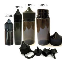 Wholesale E Cig Juices - Newest Black Gorilla Bottle 30ml 50ml 60ml 100ml 120ml PET Unicorn Plastic Dropper Bottles for E Liquid E Cig Juice