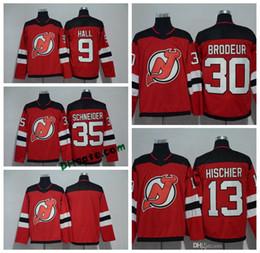 0fdcd6a13 2018 AD New Jersey Devils 9 Taylor Hall 30 Martin Brodeur 35 Cory Schneider  13 Nico Hischier 6 Andy Greene 14 Adam Henrique Hockey Jerseys