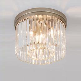 Canada Single Head Crystal Light Simple Modern Restaurant Light Led Creative Aisle American Circular Mystery Crystal ceiling lamp Offre