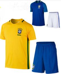 83866382f 2018 Brasil Soccer Sets with sworld cup Brasil Jersey NEYMAR JR G.JESUS  MARCELO PAULINHO Football Kits Thai Quality Football Uniforms