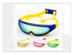 Wholesale Silicone Swimming Goggles - Brand New Professional Swimming Goggles Anti-Fog UV Adjustable Plating men women Waterproof silicone glasses children Eyewea