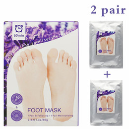 foot sheet Promo Codes - Aloe Vera Lavender Foot Mask Feet Exfoliating Moisturising Mask Skin Peeling Dry Dead Skin Remover Feet Care Beauty Tools 1lot=1box=2pairs
