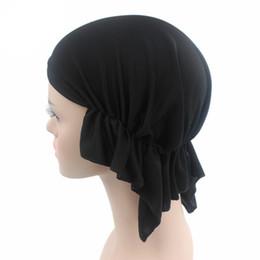 Wholesale Net Beanies - New Breathable net Summer Muslim Women's Polyester Skull Chemo Turban Headwear Beanie Cap Wrap Hat Cancer