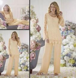 2019 plus größe formale chiffonschwarzjacke Neueste Design Maßgeschneiderte Spitze Mutter der Braut Anzüge Jewel Neck Mutter Hose Anzüge Täglich Trägt