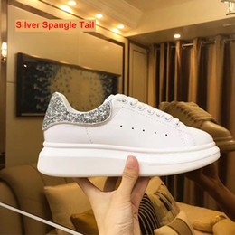 Wholesale Ad Round - Top quality AD MQ calf skin luxury women mens casual white brand shoes sneakers size 34-44
