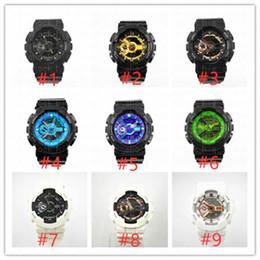 5 шт. / Лот 110 стиль бренда мужские наручные часы, спорт двойной дисплей GMT цифровой светодиодный reloj hombre армия военные часы relogio masculino от