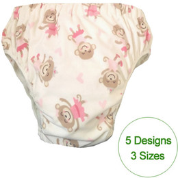 Wholesale Diaper Gauze - 5 patterns chioce waterproof Adult cloth diaper cover Nappy nappies adult diaper pants with insertS M L