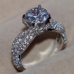 joyas de dinosaurio de oro Rebajas Choucong Juego de garras de dinosaurio de joyería de lujo Diamante 14 kt Anillo de boda de compromiso con relleno de oro blanco para mujeres