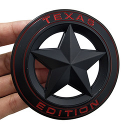 Canada 3D Metal TEXAS EDITION Bouclier Pentagramme 3D Emblème Badge Voiture Fender Côté Queue Corps Autocollant pour JEEP Wrangler Liberty Grand Cherokee Offre
