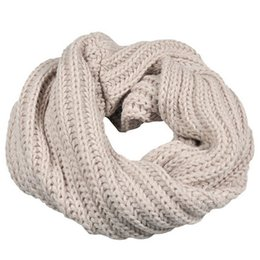 Wholesale Circle Wool - Knitted Circle Wool Scarves for Women Men Winter Warm and Soft Ring Ladies Girls Boy Solid Fashion Casual Scarf in Nine Colour