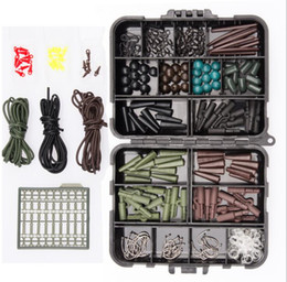 Wholesale Wholesale Carp Fishing Tackle - Fishing Carp set Almighty Mixed Fishing Lure Bait box Wobbler With Treble Hook Minnow Bait carp Fish Spinners Terminal Tackle Kit KKA4068