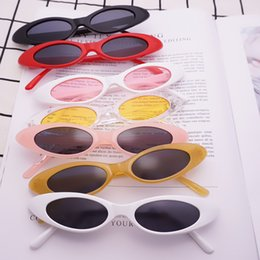 Wholesale jelly cats wholesale - Oval Narrow Cat Eye Sunglasses Small Size Framed Water Droplets Jelly Trend Sunglasses Vintage sports Sunglasses outdoor eyewear GGA43
