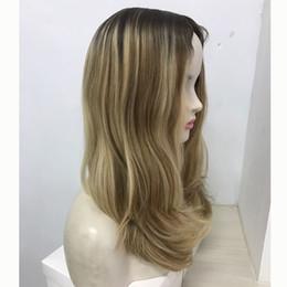 COSTUME ombre loiro feito kosher peruca 100% cabelo virgem Europeia peruca judaica, kosher peruca Melhor Sheitels frete grátis de
