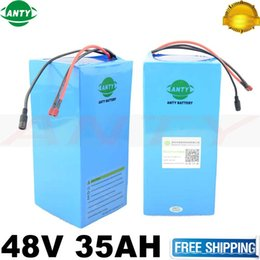 Wholesale Motor Electric Ebike - eBike Battery 48V 35Ah 2000W 18650 Lithium Battery Pack For 48V Electric Bike Drive Motor With 54.6V Charger 50A BMS Battery Kit