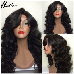 Wholesale lasting hair color - Human hair curly wigs unprocessed virgin brazilian malaysian peruvian hair long last lace frontal wig for black women