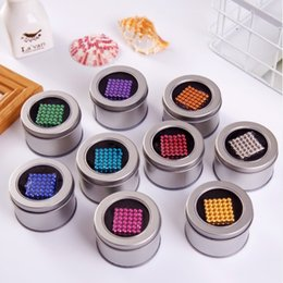 Wholesale Magic Magnetic Balls - 16 Colors Option 5mm 216 pcs Neo Cube Magic Puzzle Metaballs Magnetic Ball With Metal Box, Magnet Colorfull Magic Toys hot