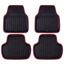 Wholesale rear floor mats - Car-pass Universal Auto Car Floor Mats Red Color Front & Rear Floot Mats Fit Small Car