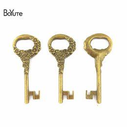 BoYuTe (20 Pièces / Lot) 25 * 62 MM En Alliage de Zinc Accessoires Clé Pièces Antique Bronze Plaqué Clés Pendentifs Diy Bracelets Matériaux De Fabrication De Bijoux ? partir de fabricateur