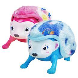 Rolo de brinquedo on-line-Novo Interativo Pet Hedgehog com Multi-modos de Luz Sensor de Som Light-up Olhos Nose Walk Rolo Headstand Brinquedo Eletrônico Brinquedos para Animais de Estimação T2I139
