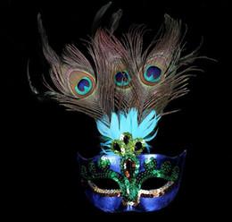 2019 máscara de luxo de penas Máscaras de baile de máscaras de pavão para a festa de halloween máscara cosplay mulher feminino penas de pavão de luxo meia face máscara partido traje de cosplay máscara de luxo de penas barato