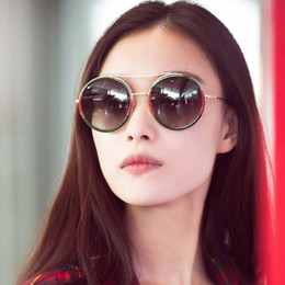 óculos de sol azul redondo para homens Desconto 2018 New Fashion Mulheres Rosa Azul Oversized Rodada Óculos De Sol Da Marca Designer Retro Frame Da Liga Homens Óculos De Sol Oculos de sol UV400