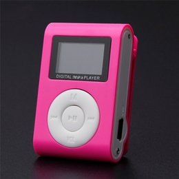 base maestra Rebajas 2018 Alta calidad mini Clip reproductor de MP3 Soporte 32GB Micro TF / SD ranura para tarjeta Deportes MP3 Reproductor de música con pantalla portátil Gife