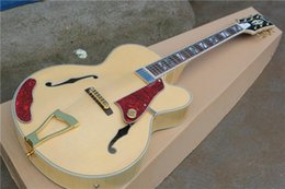 Wholesale Jazz Guitars Natural - free shipping New Top Quality musical instrument Natural maple wood L5 hollow body jazz guitar 1 2