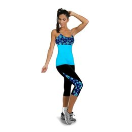 Wholesale Mark Side - 1PC High Waist Fitness Yoga Sport Shorts Side Printed Stretch Cropped Legging#28