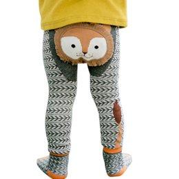 Wholesale Warm Leggings For Girls - Autumn Winter Sweet Cartoon Baby Boys Girls Leggings Warmer Cotton PP Pants Trousers + Socks for 0-6Y Kids