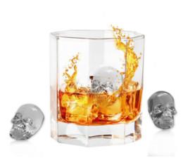 Uísque de pedra on-line-Molde da bandeja do cubo de gelo do silicone do crânio 3d para o Whisky Cocktails Bpa - Molde livre do gelo das pedras de gelo do Whiskey do crânio