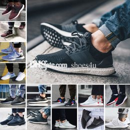 Wholesale Mens Genuine Leather Shoes - New Ultra Boost 2.0 3.0 4.0 UltraBoost mens running shoes sneakers women Sport Tri-Color NMD R2 CNY Dog Snowflake Core Triple Black White