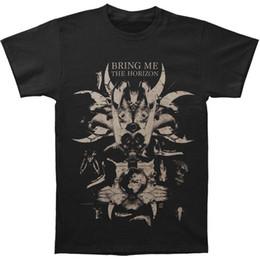 Maglietta del cranio dei ragazzi neri online-Bring Me The Horizon T-shirt Skull Bones da uomo T-shirt in cotone a maniche corte in cotone T-shirt stampata da ragazzo T-shirt da uomo