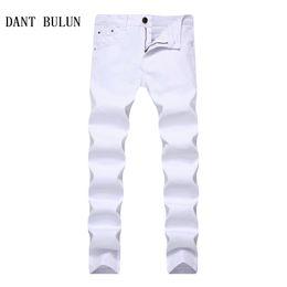DANT BULUN 2018 New Stretch Skinny Men Multi Solid Color Jeans Moda Casual Negro Rojo Blanco Azul Khaki Plus Size Trousers desde fabricantes