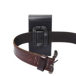 Cinto Universal Clipe de Couro PU Cintura Titular Bolsa Flip Case para Lâmina ZTE L5 / A2 / S7 T920 de Fornecedores de zte blade flip