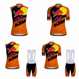 Wholesale shopping products - New products on shop KTM Cycling clothing short sleeve mens sleeveless vest summer bike sport bib shorts Mountain bike rider clothes E0602