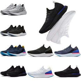 Wholesale pearl massage - New Epic React Running Shoes Mens womens Black White Oreo Blue scarpe Pearl Pink Summer outdoor athletic Sports man Sneakers size eur 36-45