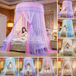 ropa de cama princesa moderna Rebajas Cordón Redondo de Alta Densidad Cama de Princesa Nets Cortina Cúpula Princesa Queen Canopy Mosquitero Venta Caliente