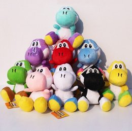 Wholesale Mario Plush For Free - 9 colors 18cm Super Mario Bros yoshi Plush Stuffed Doll Toys With Sucker Free shipping For Kids Christmas Gifts