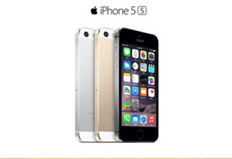 Wholesale iphone 5s cellphones - Refurbished Apple iPhone 5S Unlocked iPhone i5S Mobile Phone Dual-core iOS 8 16G 32G 64G With Touch ID 3G WCDMA Bluetooth WIFI Cellphone