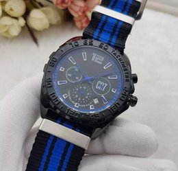 Wholesale Eyes Pins - 015 new High quality Luxury Fashion Wristwatche Wholesale men watch sports Calibre 12 RS F1 CR7 3 Eyes quartz Mens Watches Nylon strap