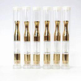 serbatoio dell'olio di hash Sconti Logo personalizzato G2 Gold Wax Wax Olio vaporizzatore Cartuccia con boccaglio in metallo 510 CE3 Atomizzatore .3 / .5 / .8 / 1ml VS Amigo liberty tank