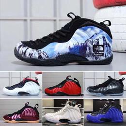 outlet store d2015 dba6a 2018 Migliori scarpe da pallacanestro economiche Penny Hardaway Mens  Sneakers sportive Foam One Melanzana blu rosse Scarpe da basket da uomo  comfort e ...